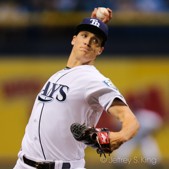 Glasnow allowed only two hits in his debut./JEFFREY S. KING