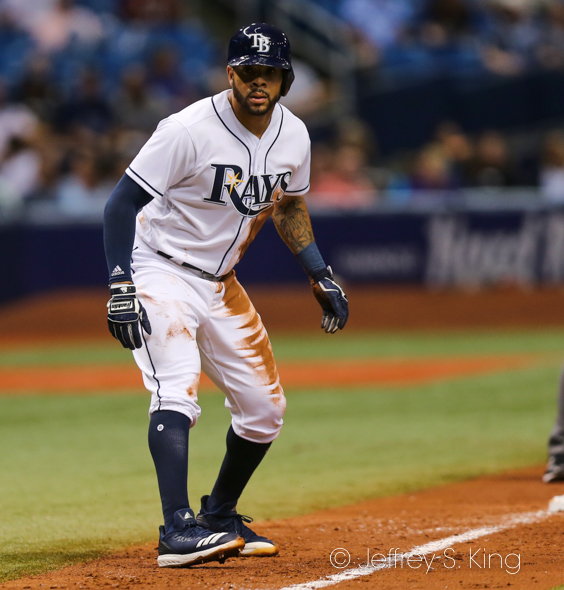 Pham had his first two hits for the Rays./JEFFREY S. KING