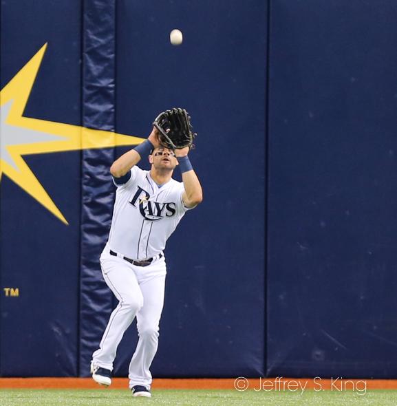 KiermaIer makes a catch in center./JEFFREY S. KING