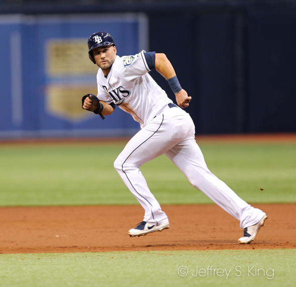 Kiermaier maKes a break for second./JEFFREY S. KING