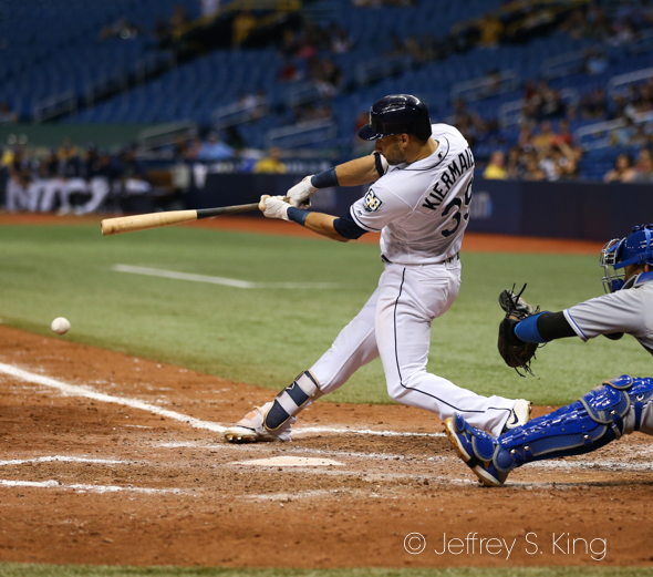 Kiermaier's grounder allowed the winning run to score./JFFREY S. KING