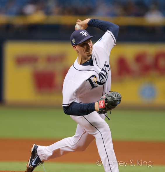 Snell threw five innings of two-hit baseball./JEFFREY S. KING