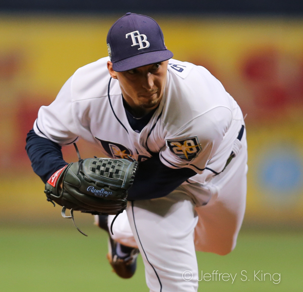 Snell allowed only earned run for Rays./JEFFREY S. KING