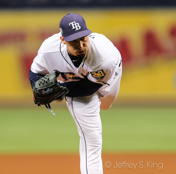 Snell won his 15th game of the season./JEFFREY S. KING