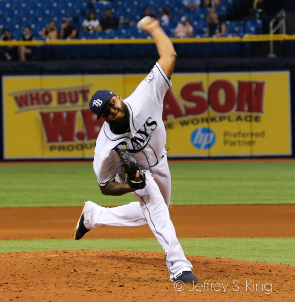Alvarado took the save for the Rays./JEFFREY S. KING