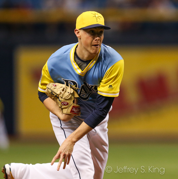 Yarbrough threw five solid innings for Rays./JEFFREY S. KING