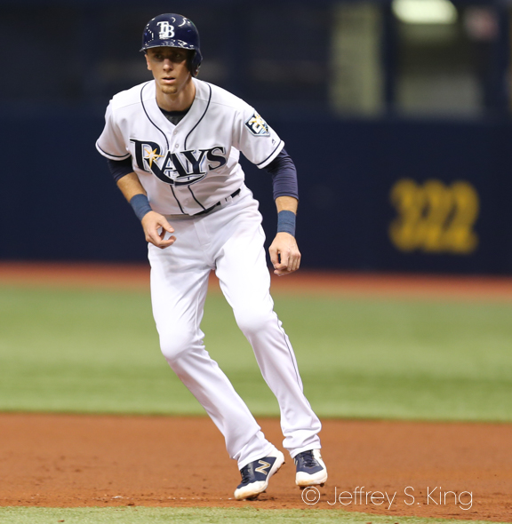 Matt Duffy had one of the Rays' three hits./JEFFREY S. KING