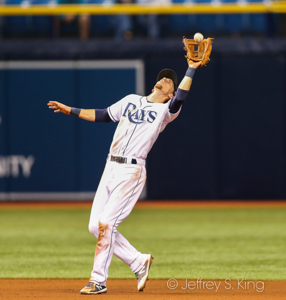 Duffy makes the catch on a pop-up./JEFFREY S. KING