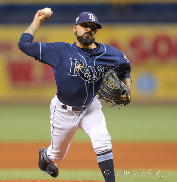 Romo collected his 100th save in the Rays' win./JEFFREY S. KING