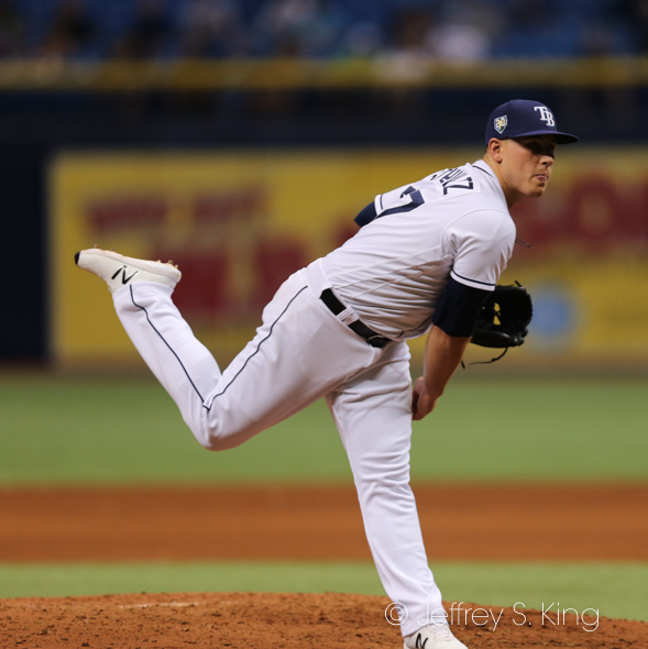 Schultz gave up two runs for Rays./JEFFREY S. KING