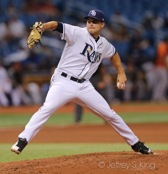 Beeks pitched five solid innings for Rays./JEFFREY S. KING