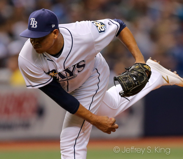 Chirinos pitched well, but took the loss./JEFFREY S. KING
