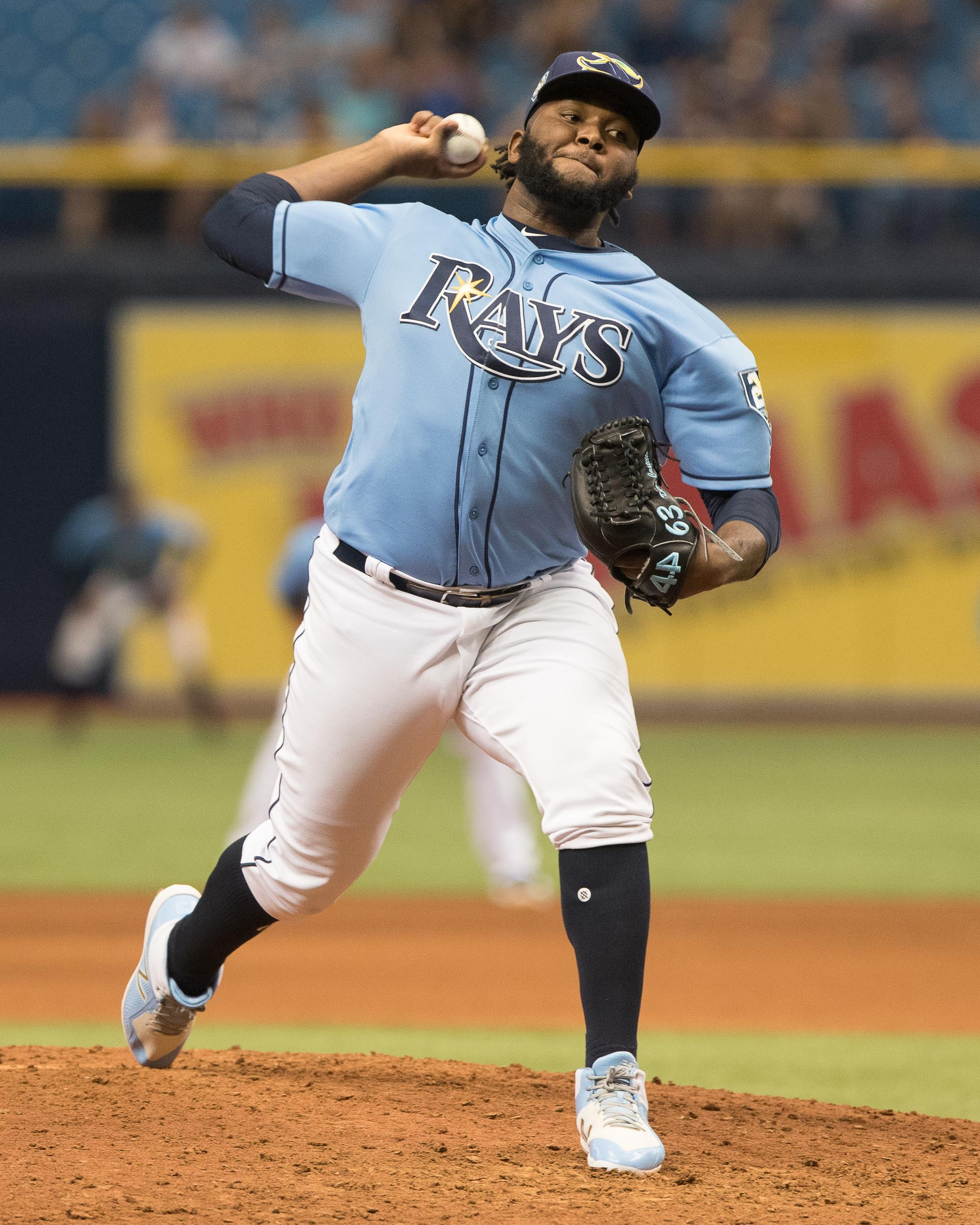 Diego Castillo took the loss for the Rays./STEVEN MUNCIE