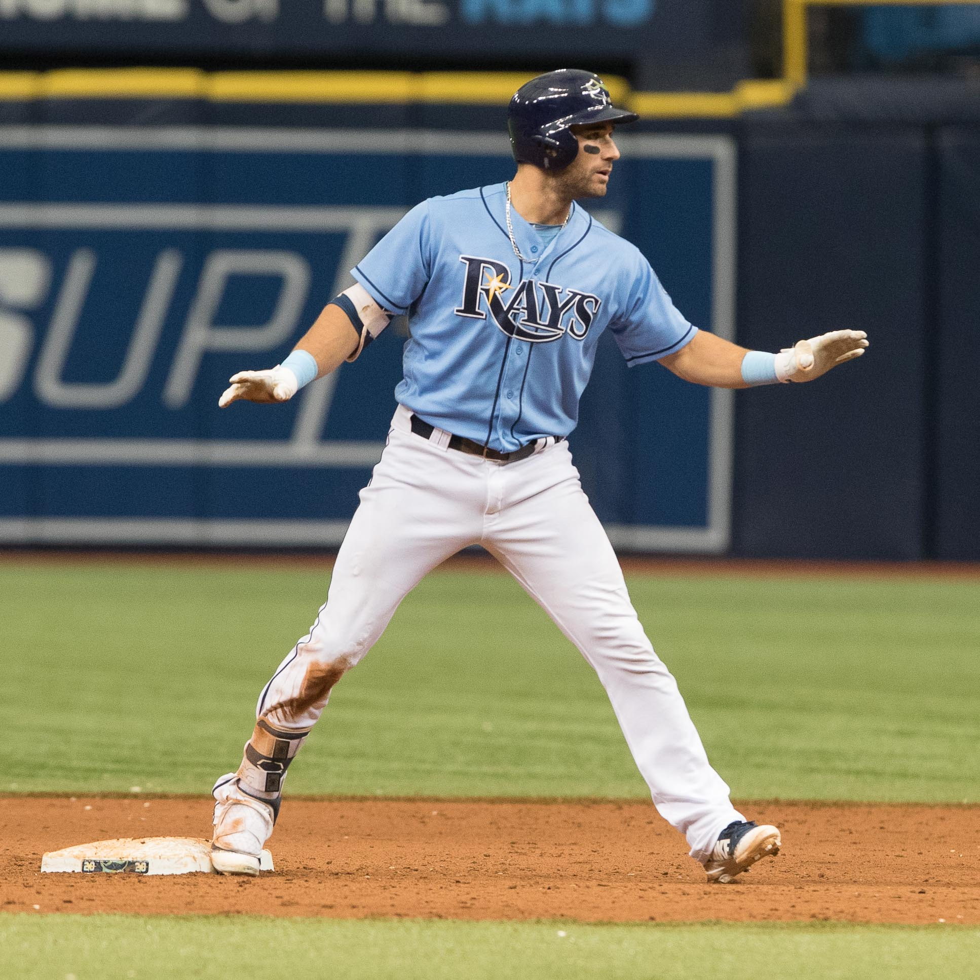 Keiermaier's double gave the Rays a chance./STEVEN MUNCIE